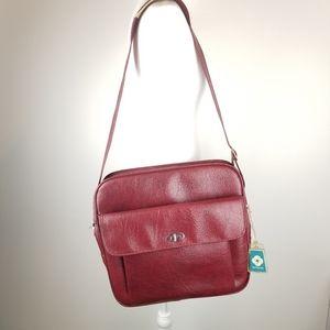 Vintage Red Samsonite Profile Carry On